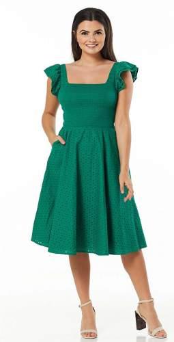 Timeless London Curve Green Raphaella Midi Dress