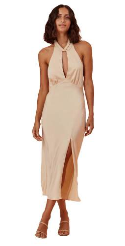 Finders Keepers Champagne Gabriella Dress