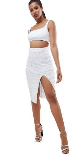ASOS Design Square Neck Embellished Sequin Midi Dress