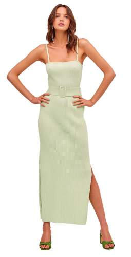 Finders Keepers Briggite Green Knit Dress