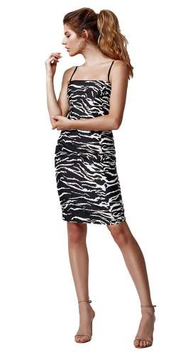 LEXI Mimi Dress In Zebra Print
