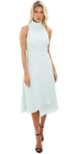 Reiss Open Back Mint Midi Dress