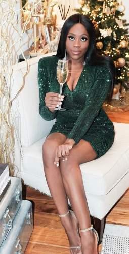 Lavish Alice Pleated Sequin Emerald Mini Dress