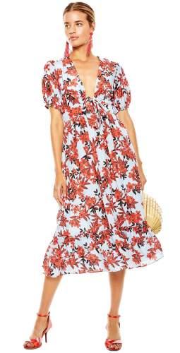 Talulah Red Floral Midi Dress