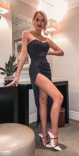 LEXI Adelina Dress In Navy