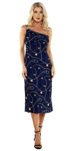 Finders Keepers Navy Chains Dress