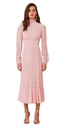 Keepsake The Label Blush Beloved L/S Midi Dress