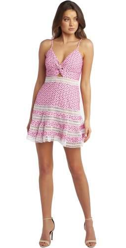 Bardot Pink Shock Camille Dress