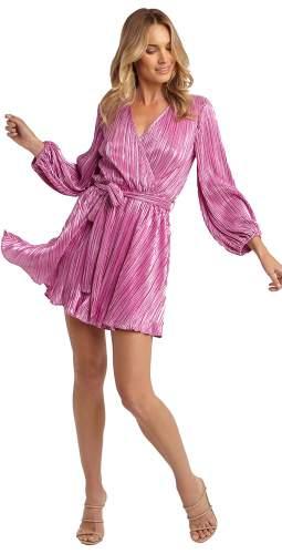 Bardot Pink Shine Bellissa Pleat Dress
