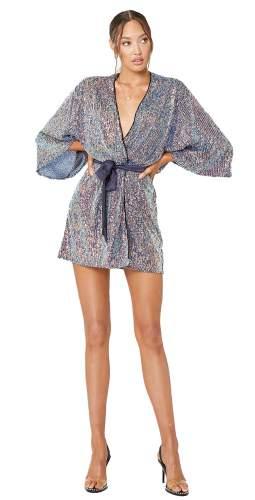 Winona Blue Fantasia Wrap Dress