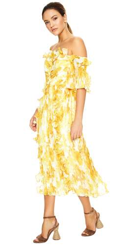Talulah Yellow Sunshine Midi Dress