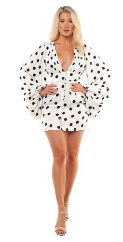 Rat & Boa Perla Polka Dot Mini Dress