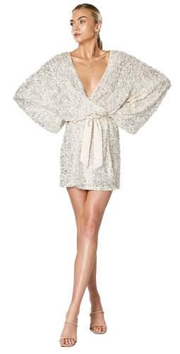 Winona White Synergy Wrap Dress