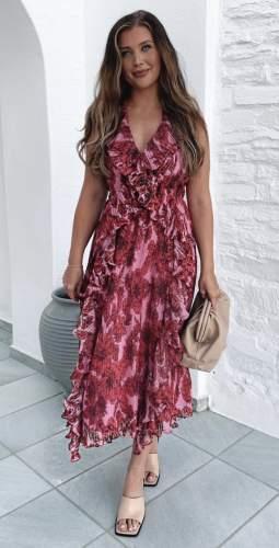 Talulah Pink Rose All Day Midi Dress