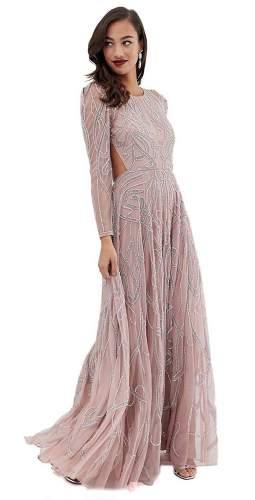 ASOS EDITION Nouveau Crystal Embellished Maxi Dress