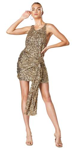 Winona Gold Thrill Backless Dress