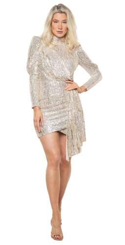 Saylor Gold Bianca Mini Dress