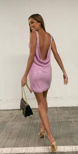 Misha Lilac Maxie Dress