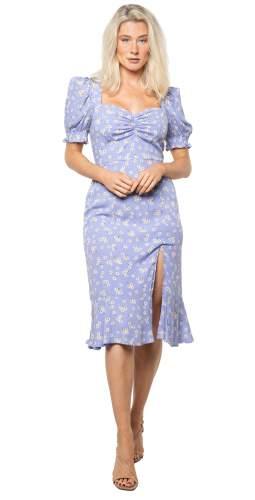 Seven Wonders Lilac Floral Samantha Midi Dress