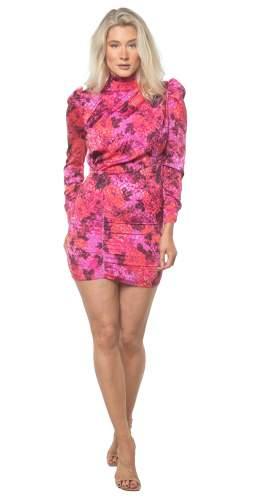 Hope & Ivy Pink Francesca Dress