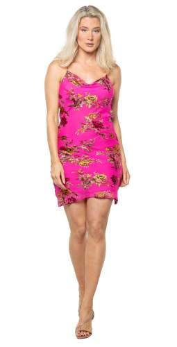 Rat & Boa Pink Floral Kiki Mini Dress