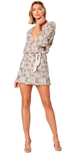 Winona Zircon V Neck Mini Dress
