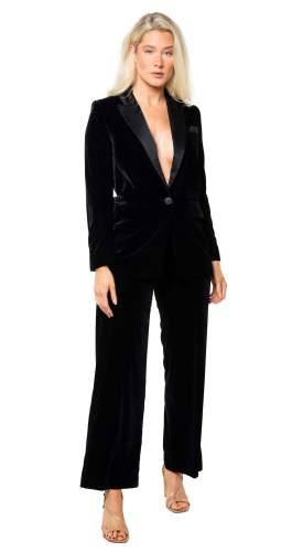 Whistles Black Velvet Tux Blazer And Trouser Co-Ord
