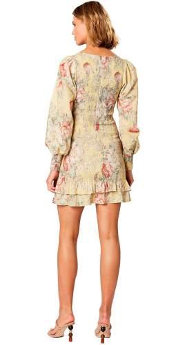 Winona Melville Shirring Mini Dress