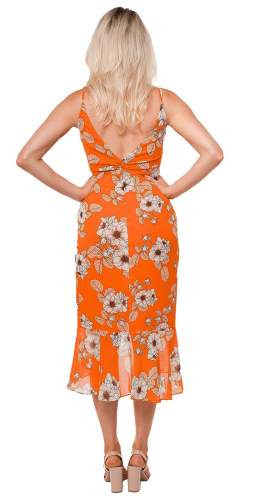 Bardot Orange Poppy Loretta Maxi Dress