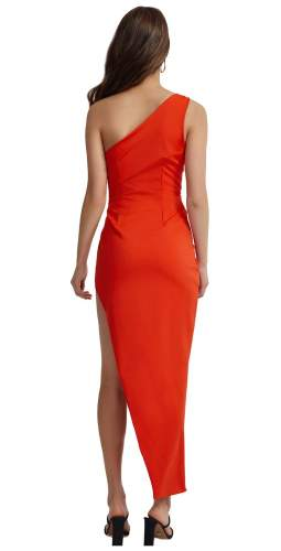 LEXI Orange Lila Midi Dress