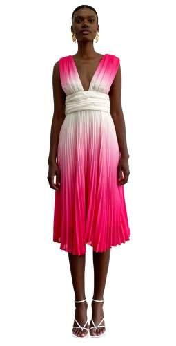 Delfi Collective Pink Kate Midi Dress