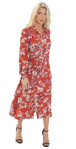 French Connection Aletta Crepe Midi Shirt Dress
