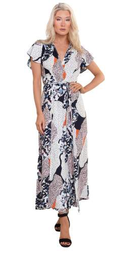 French Connection Asha Drape Maxi Dress