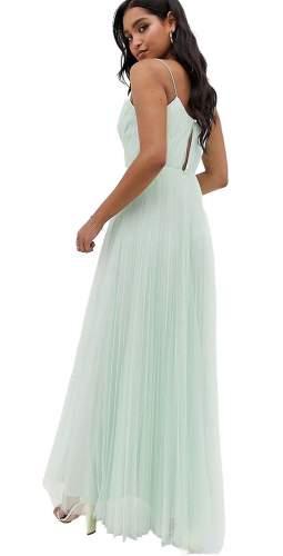 ASOS DESIGN Aqua Cami Pleated Tulle Maxi Dress