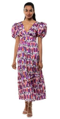 Panambi Purple Print Amber Midi Dress