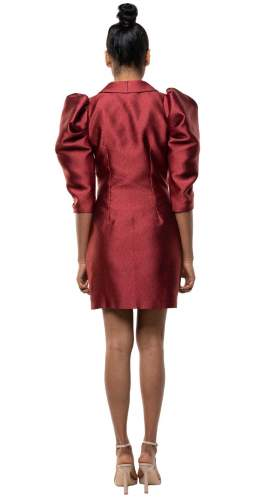 Panambi Burgundy Shia Mini Dress