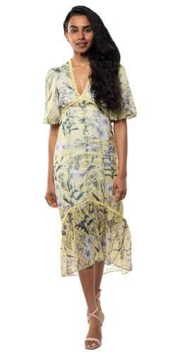 Hope & Ivy Yellow Luella Dress