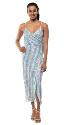 Saylor Pip Sequin Midi Dress