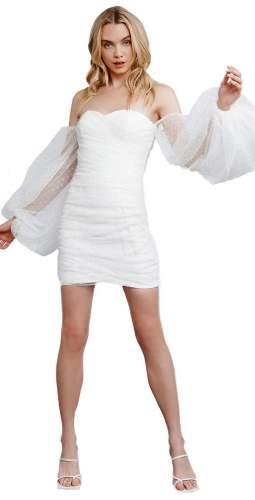 LEXI White Saya Mini Dress