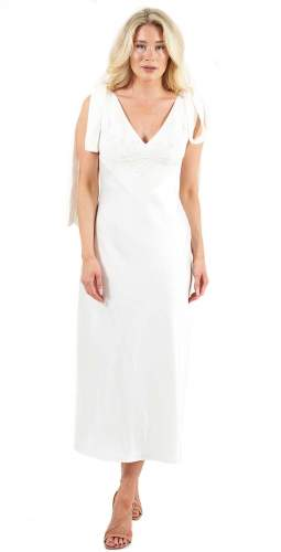 C/MEO Collective Ivory Fundamental Midi Dress