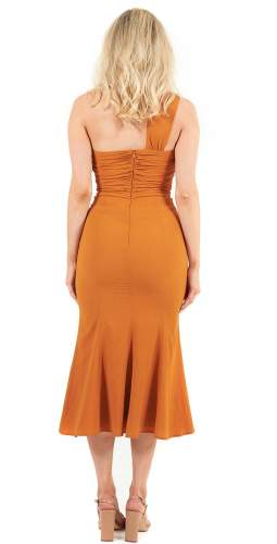 Finders Keepers Terracotta Jacques Midi Dress