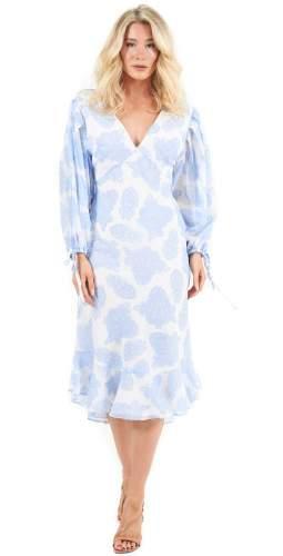 Keepsake The Label Blue Paisley Clearway Midi Dress