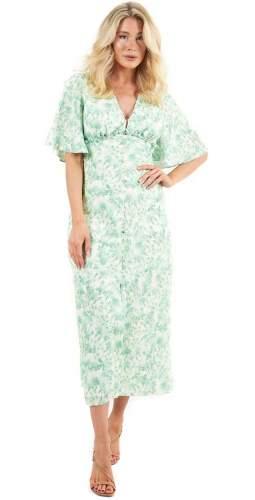 Keepsake The Label Pistachio Blossom Blaze Midi Dress