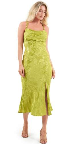 Finders Keepers Green Vacancies Midi Dress
