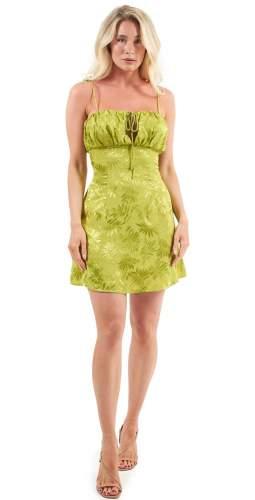 Finders Keepers Green Vacancies Mini Dress
