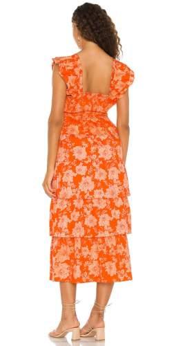 Saylor Orange Linley Maxi Dress