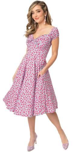 Timeless London Curve Pink Floral Victoria Midi Dress