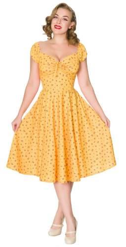 Timeless London Curve Yellow Floral Serenity Midi Dress