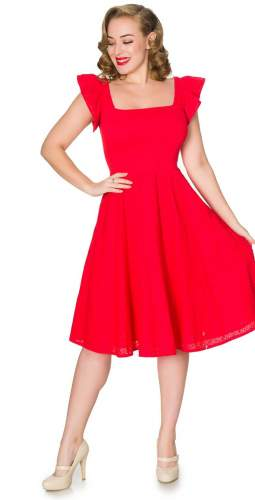 Timeless London Curve Red Raphaella Midi Dress
