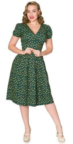 Timeless London Curve Green Floral Valentina Midi Dress